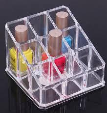 lipstick organizer nail polish makeup case cosmetic stand display