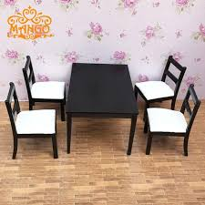 Dollhouse Dining Room Furniture 1 12 Dollhouse Dining Room Furniture Set 5pcs Dining Black And