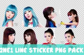tutorial cara membuat line sticker 2ne1 preview line sticker png pack png