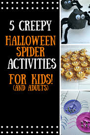 5 creepy halloween spider activities
