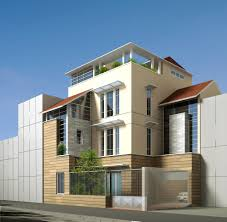 3d contemporary multi story house cgtrader