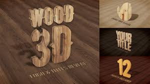 3d wood wood 3d logo titles reveal by luacsvfx videohive