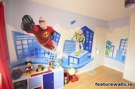 Toddler Superhero Bedroom Murals Super Room Transformed With Beautiful Super Mario Murals
