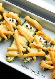 Easy Halloween Party Food Ideas For Kids Baked Cheesy Jalapeno Mummy U2013 Best Cheap U0026 Easy Halloween Party