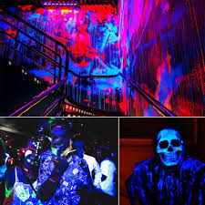 Halloween Flood Lights by Yeesite Black Light Bar With 8x3w Uv Led For Blacklight Party