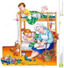 dans la chambre illustration d aquarelle enfants dans la chambre à coucher