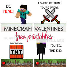 minecraft valentines cards minecraft valentines printable free it is a keeper