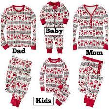 family matching pajamas pjs sets sleepwear