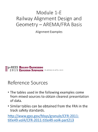 1 module 1 f railway alignment examples copyright rail transport