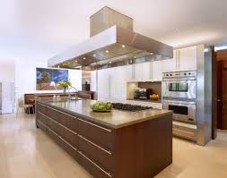 modern kitchen hoods brown kitchen decorating using large rectangular stainless steel