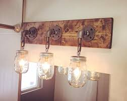 Mason Jar Lights Etsy Cheap Bathroom Light Fixtures