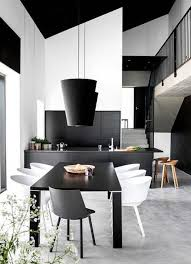 Best Dining Tables Images On Pinterest Dining Tables - Black and white contemporary dining table