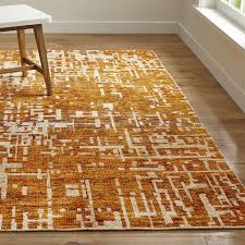 Area Rugs Orange Celosia Orange Knotted Rug Crate And Barrel