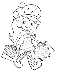 bunch ideas printable vintage strawberry shortcake coloring