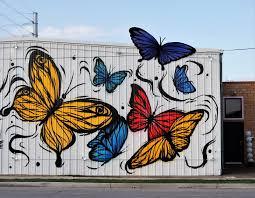 butterfly wall on preston in eado houston in pics butterfly wall on preston in eado