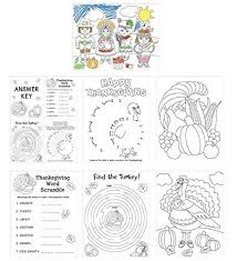 thanksgiving coloring placemats amazon