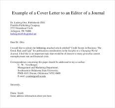 cover letter to editor of journal best template collection