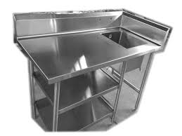 stainless steel corner work table work table with sink mast kitchen