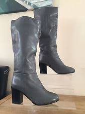 aldo s boots uk aldo s 100 leather knee high boots block shoes ebay