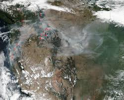 Wildfires Burning In Washington State by Olympic National Park Fires In Washington State Nasa