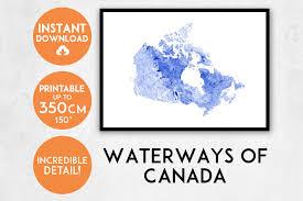 canada map print printable canada map art canada print