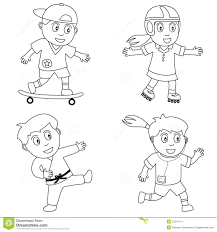 coloring sport for kids 4 stock images image 12347114