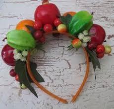 fruit headband tropical fruits headband miranda style by olgadesigns