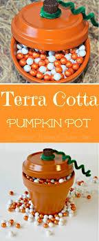 terra cotta pumpkin pot thanksgiving craft for your festive home