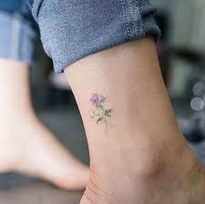 the 25 best flower ankle tattoos ideas on ankle