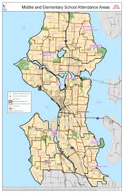 Seattle Maps Attendance Area Maps For Seattle The Resegregation Of Schools