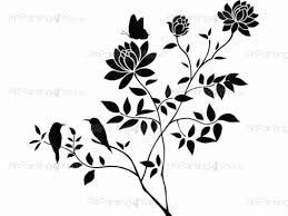 abstract flower wall decals vdf1074en artpainting4you eu abstract flower florals wall decals