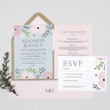 Pink Poppy Wedding Invitation By Project Pretty