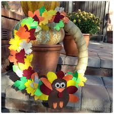 welcome turkey thanksgiving door wreath diyideacenter