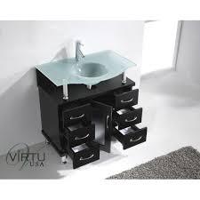 32 Bathroom Vanity Virtu Usa Ms 32 Fg Es Vincente 32 Bathroom Vanity Without Faucet