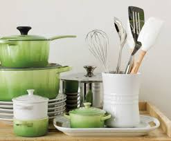 glazed in signature le creuset colors the utensil crock is ideal