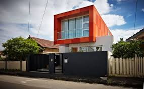 Contemporary House Design by Striking Orange Box South Yarra House Design By Lsa Architects