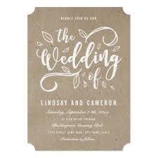 kraft paper wedding invitations rustic kraft paper calligraphy wedding dinner menu card zazzle