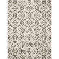 nuloom meeker trellis grey 5 ft 3 in x 7 ft 9 in area rug