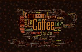coffee shop background design coffee letters wallpaper custom 3d wall mural fashion photo