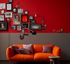 wandgestaltung rot wandfarbe wohnideen mit eine wand in rot living at home