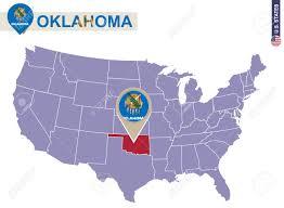 Map Oklahoma Oklahoma State On Usa Map Oklahoma Flag And Map Us States