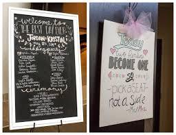 Chalkboard Wedding Program Ponca City Wedding U0026 Marland Mansion Reception Kristin Jordan