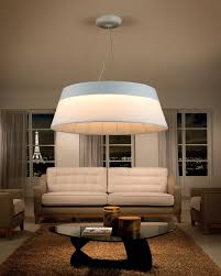 round fabric shade pendant light very large attractive feature light this would look really great