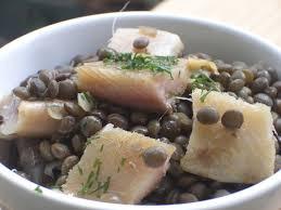 cuisiner le hareng salade de lentilles vertes du puy aux harengs fumés cake