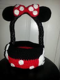 canasta minnie mouse tejida crochet tejidos cat