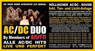 polterabend flyer the ac dc show by am fm die geilste und originalste ac dc