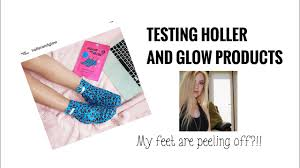 testing out holler and glow