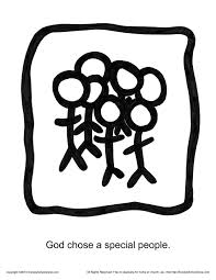 god chose a special people story icon coloring page children u0027s