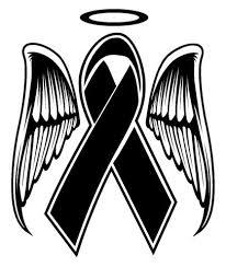 funeral ribbon memorial ribbon decal sticker