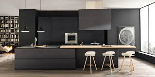black and kitchen ideas black wood against pale contemporary kitchen modulnova